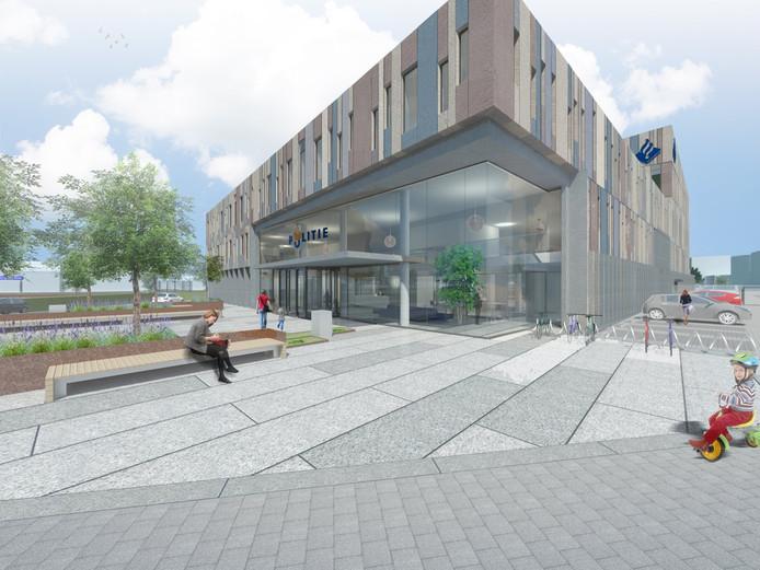 Impressie van het nieuwe politiebureau van Bergen op Zoom.