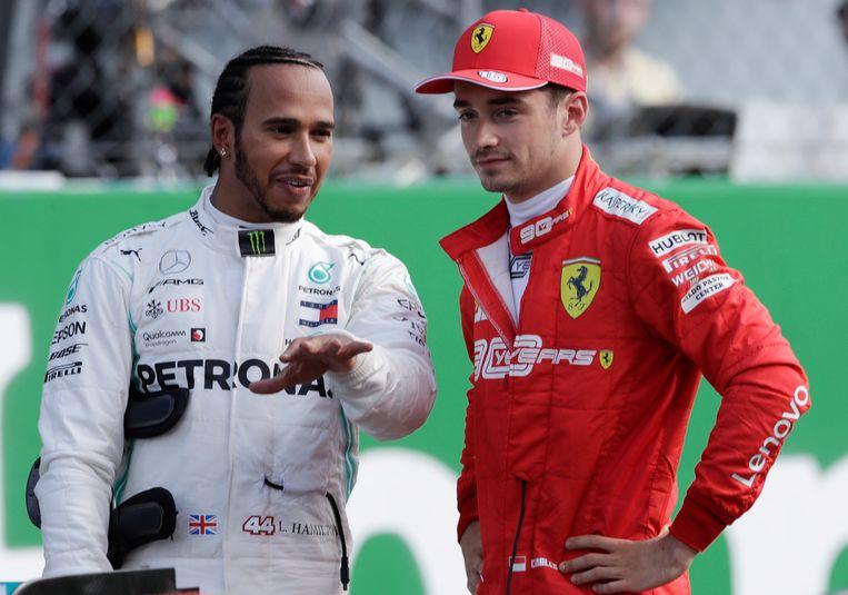 Hamilton en Leclerc.