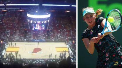 Dit was Miami voor Elise Mertens: net niet in dubbelfinale, wel naar NBA-match van Heat tegen de Knicks