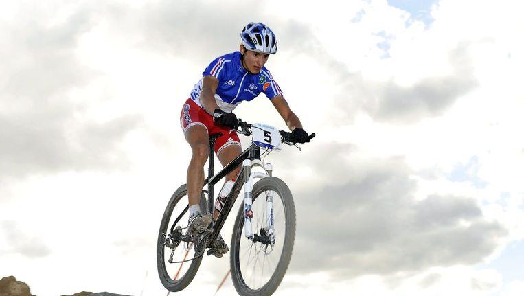 De Fransman Alexis Vuillermoz als mountainbiker Beeld anp