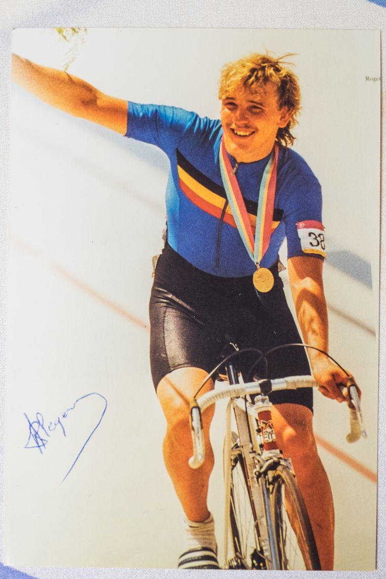 Roger Ilegems met zijn gouden medaille