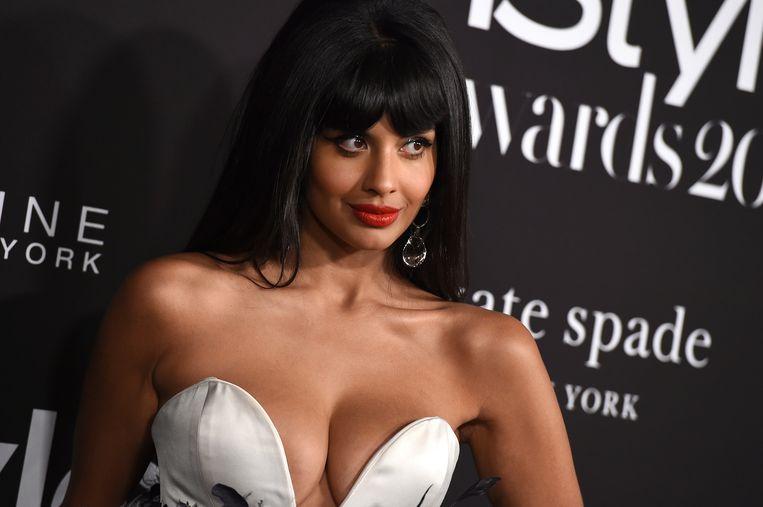 Actrice Jameela Jamil, die van de term 'body neutrality' een trend maakte.