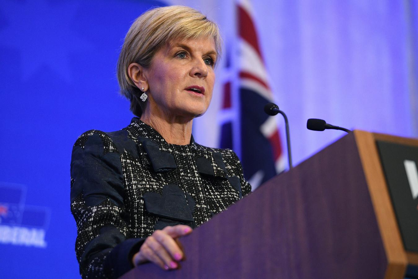 De Australische minister van Buitenlandse Zaken, Julie Bishop.