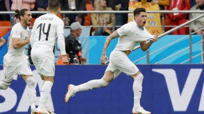 Giménez helpt Uruguay in slotfase met rake kopbal voorbij Salah-loos Egypte