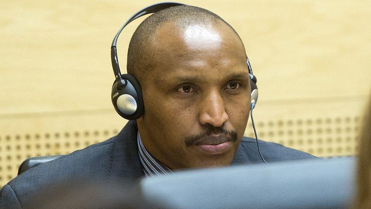 De verdachte Bosco Ntaganda, alias The Terminator', verschijnt voor Het Internationaal Strafhof (ICC) in Den Haag. Hij wordt van oorlogsmisdaden en misdaden tegen de menselijkheid beschuldigd, gepleegd in 2002 en 2003. Beeld afp