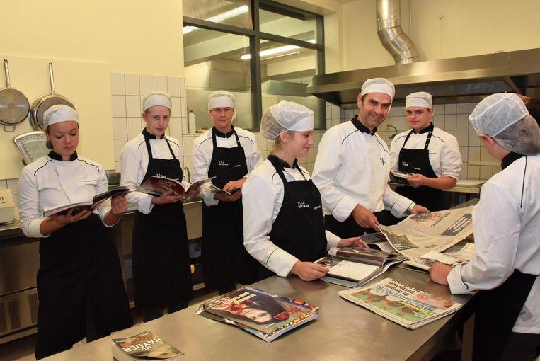 De leerlingen van VTI Spijker mochten vrijdag een lesuurtje lezen.