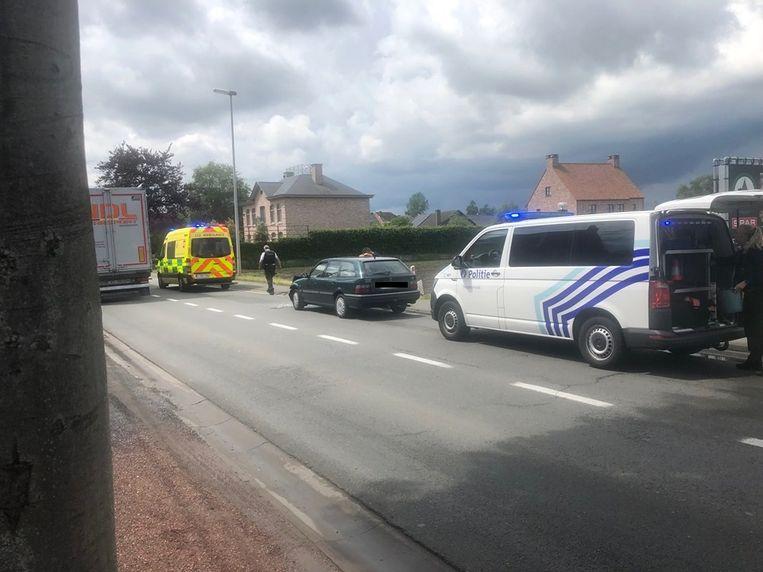 Het ongeval gebeurde op de Ouburg in Mespelare.