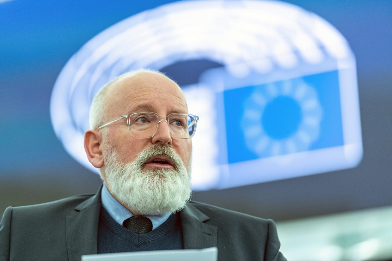 Vicevoorzitter Frans Timmermans van de Europese Commissie in het Europees Parlement in Straatsburg, in januari van dit jaar.