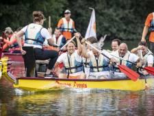 Eerste drakenbootrace in Oldenzaal smaakt naar meer