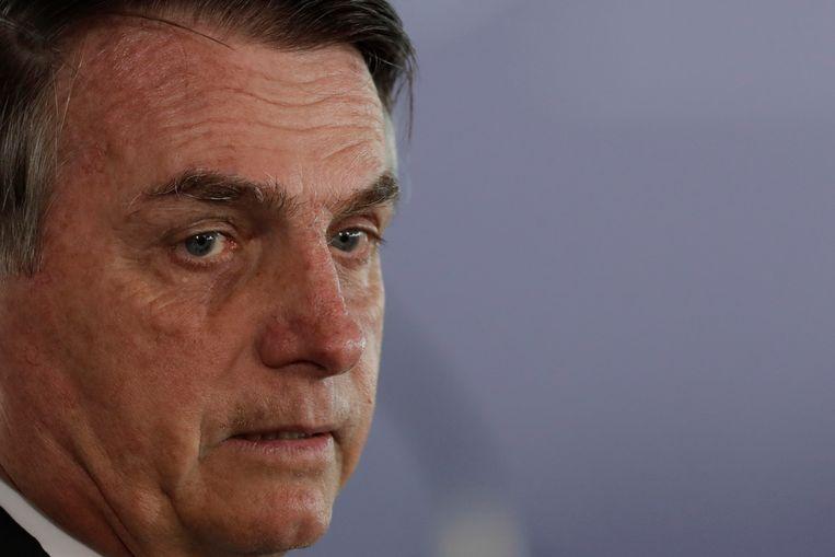De Braziliaanse president Jair Bolsonaro. Beeld AP