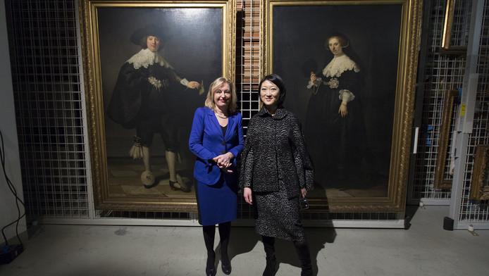 Minister Bussemaker met haar Franse college Pellerin