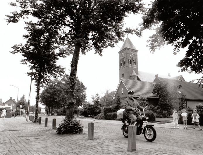 De dorpskern van Casteren in 1991.