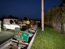 Drie voertuigen betrokken bij ongeval op A28 bij Harderwijk