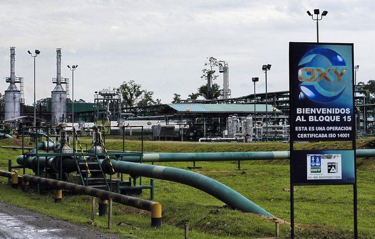 Een terrein van olie-investeerder Oxy in Ecuador. Beeld afp