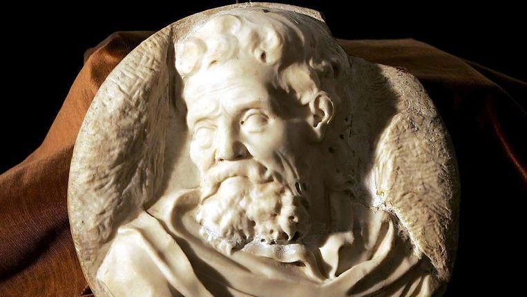 Portret van Michelangelo, waarschijnlijk door de meester zelf gemaakt. Beeld EPA