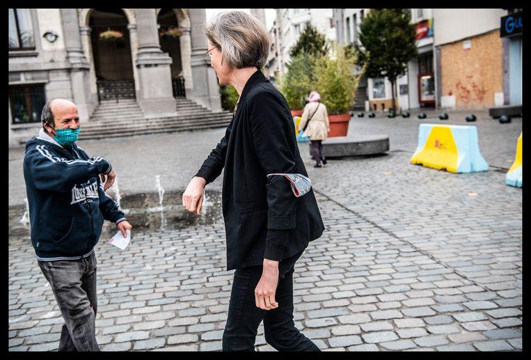 'Door de opstoot in Antwerpen deze zomer, bleef Vlaanderen alert. In Brussel beseffen ze pas de laatste weken: verdorie, dat virus is er nog.' Beeld Saskia Vanderstichele