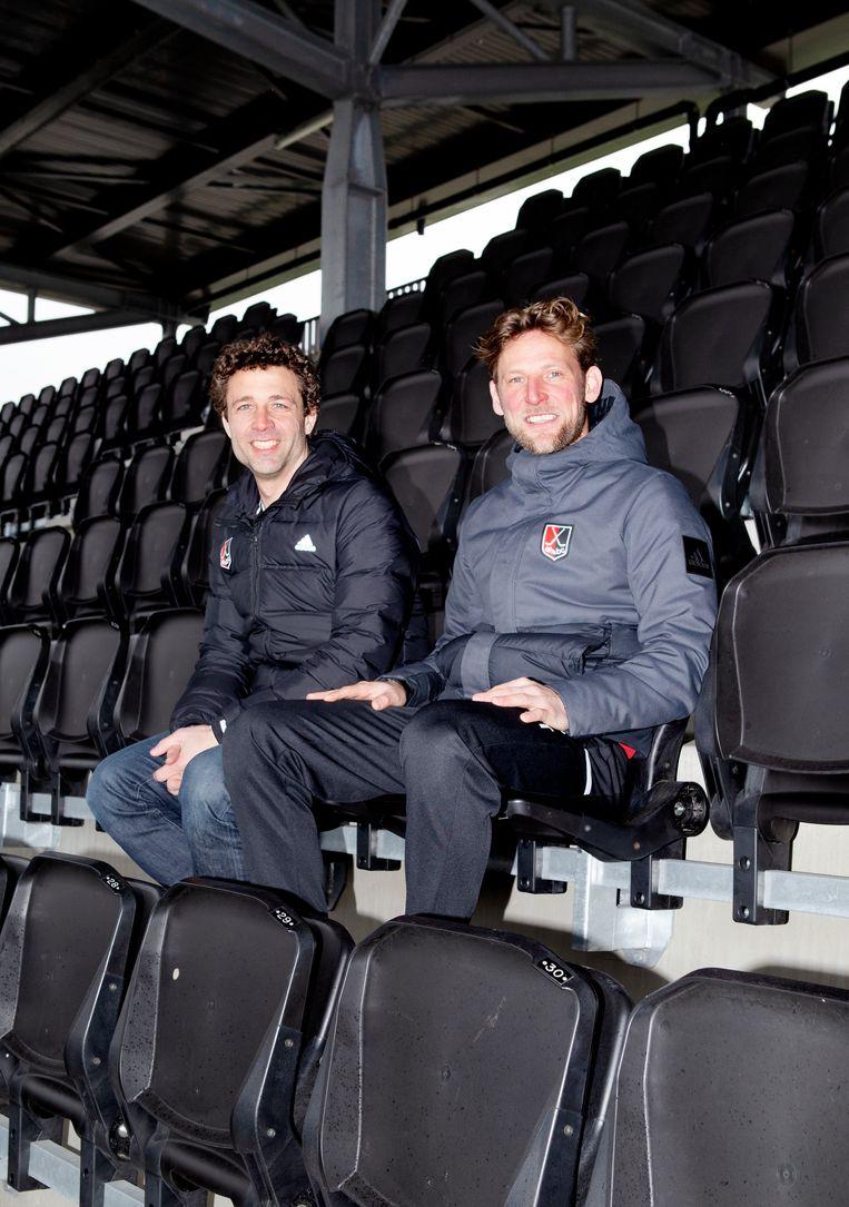 Santi Freixa (l) en Robert Tigges: 'Coachen is uren maken en daarvan leren.' Beeld Sanne Zurne