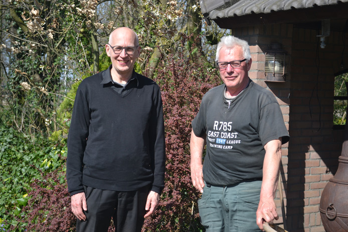 De inspirators van het passieconcert, dirigent Marijn Kapteijns (links) en voorzitter Tiny van Lieshout.