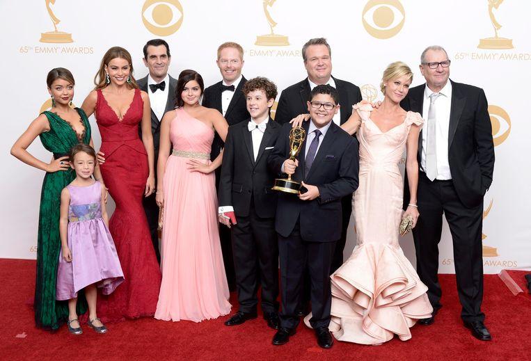 Sarah met de rest van de 'Modern Family' cast.