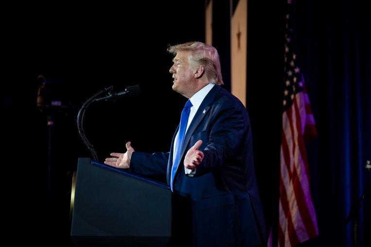 President Trump tijdens een eerder diner voor Witte Huis-correspondenten.