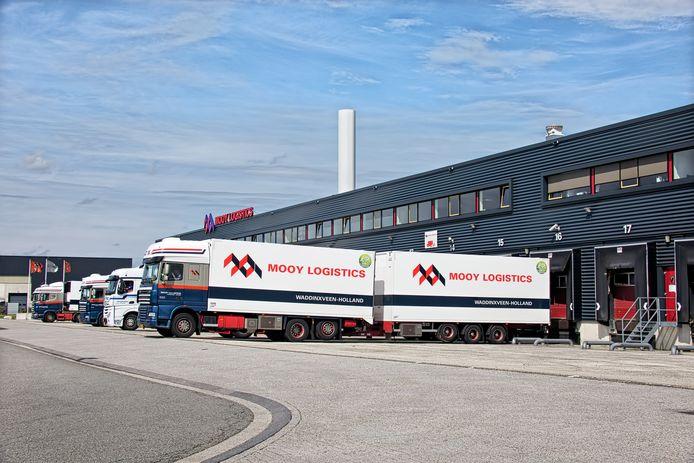 Grensovergang Hazeldonk bij Breda. WestBrabant is een aantrekkelijk vestigingsgebied voor logistieke bedrijven.