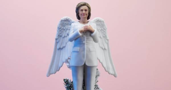 Alternatief voor traditionele piek: Hillary of Beyoncé op de kerstboom