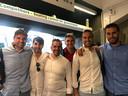 Roberto Bautista Agut met zijn vrienden.