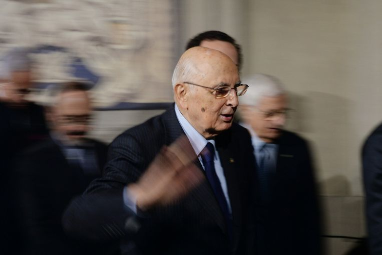 De Italiaanse president Giorgio Napolitano op 15 februari 2014. Beeld afp
