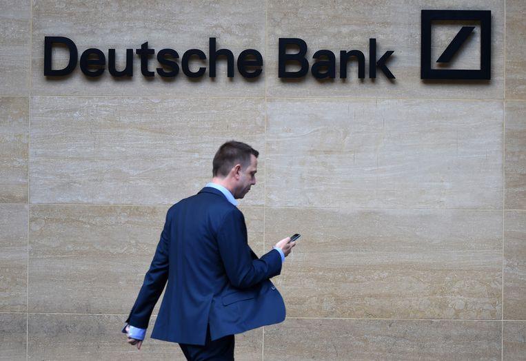 Deutsche Bank zegt in een reactie dat het zal meewerken aan welk officieel verzoek dan ook van de Amerikaanse autoriteiten. Het bedrijf was de afgelopen jaren betrokken bij diverse financiële transacties met Trumps bedrijven. Beeld EPA