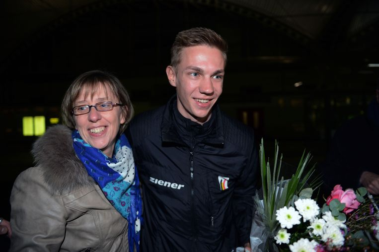 Bart Swings, hier met mama Anne, heeft hoge ambities voor de volgende Olympische Spelen.
