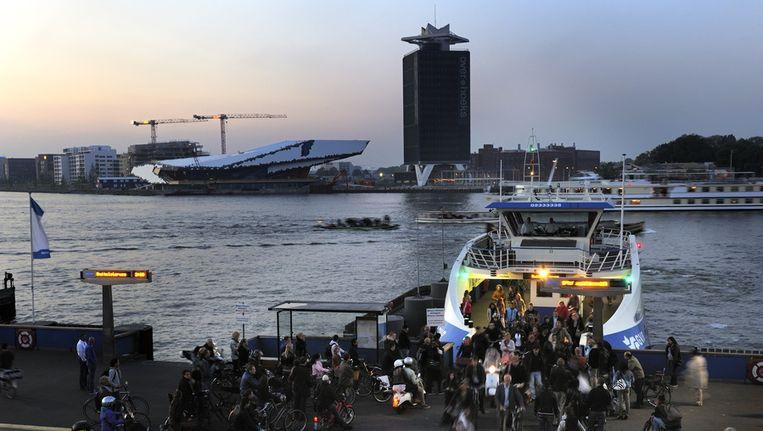 De Amsterdamse pont met Amsterdam-Noord op de achtergrond. Beeld ANP
