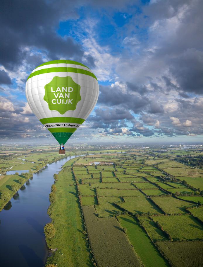 IPTCBron  Johan Roerink/Aeropicture/Beeldbewerking Rutger van der Zalm, De Gelderlander   Luchtballon land van cuijk
