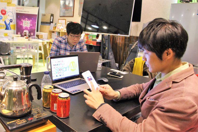 Hsu Weichiang wil met zijn app de wereld verbeteren. Beeld Leen Vervaeke