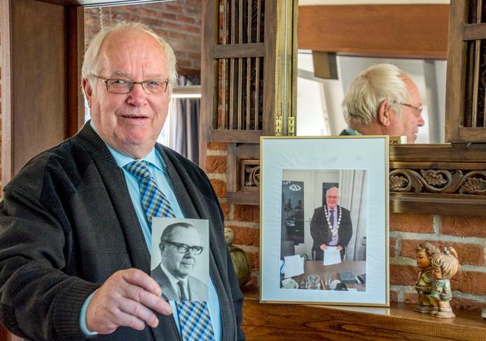 Ruud van de Ven toont het portret van zijn vader, die burgemeester van Haaren was.