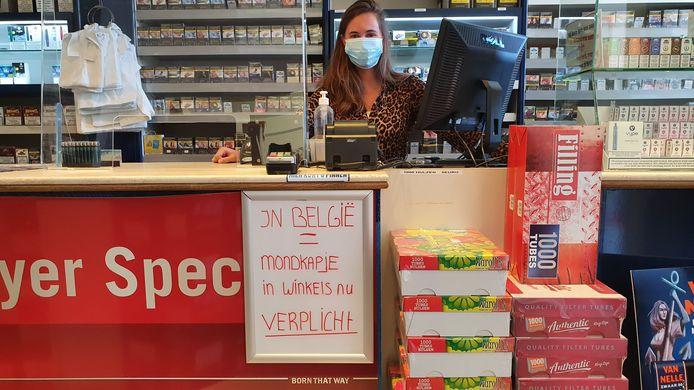 Amy van Eijck, verkoopster in de Caballero Shop.