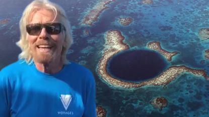Richard Branson dook naar de bodem van het grootste zinkgat ter wereld en maakte er adembenemende beelden van