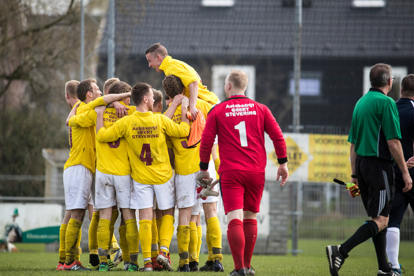 GWVV won met 2-3 bij Rijnland. Foto Jan van den Brink