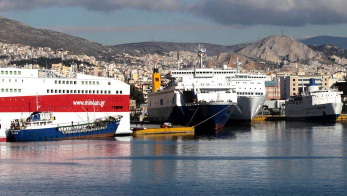 Vue sur le port du Pirée