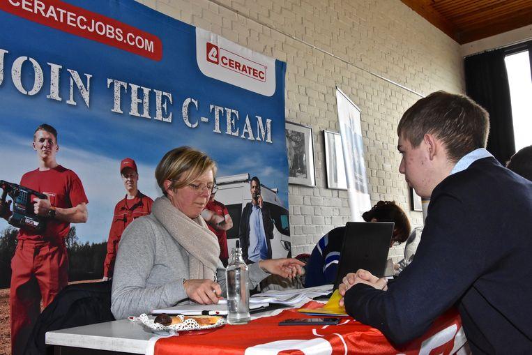 Jobbeurs Menen - Rekruteerder Barbara Casier van Ceratec