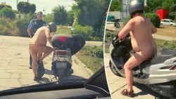 """Duitse politie houdt naakte motorrijder staande: """"Het is warm, nietwaar?"""""""