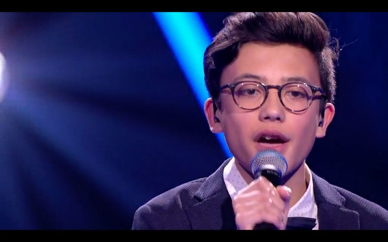 Justin is de favoriet in 'The Voice Kids'.