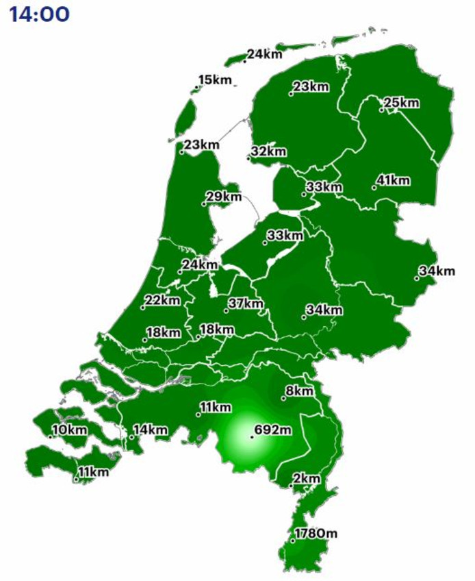 In de regio Eindhoven is het mistig, de rest van Nederland heeft vrijwel nergens last van.