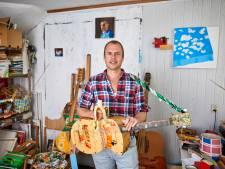 Harm Goslink Kuiper nam cd op met zelfgemaakte instrumenten