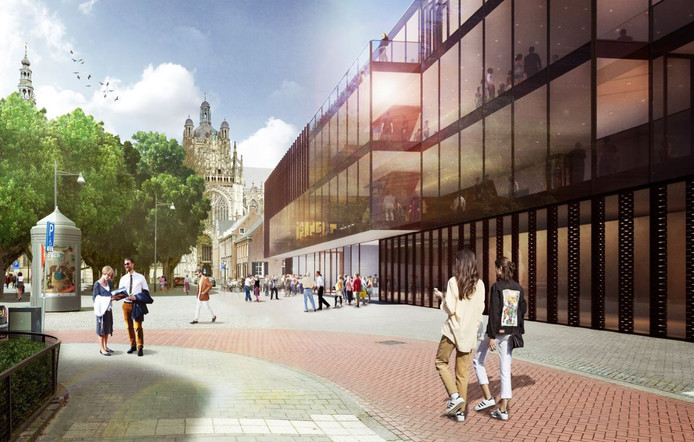 Het ontwerp van NOAHH voor het nieuwe Theater aan de Parade in Den Bosch.
