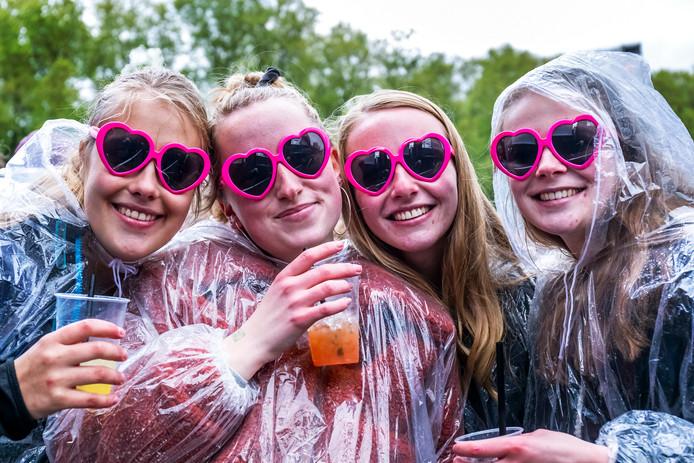 Ondanks de kou en de regen zat de stemming er goed in op het Bevrijdingsfestival in Park Transwijk.