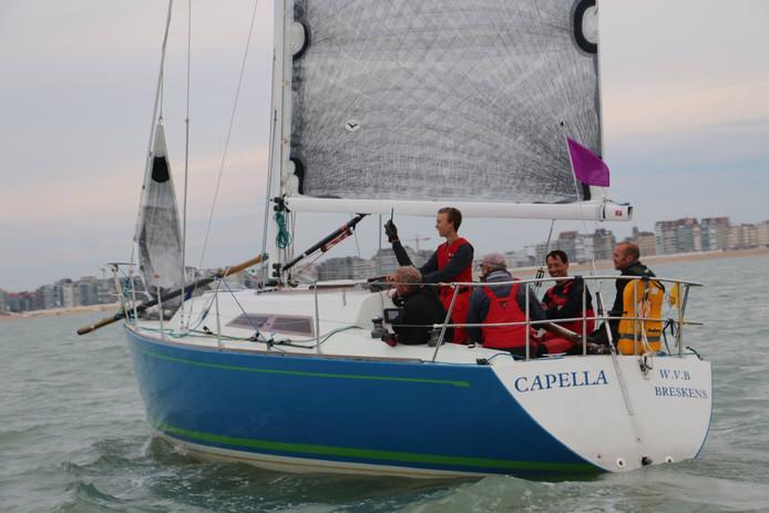 Een foto van de Capella genomen bij de start van The Vessel Race, gisterenavond
