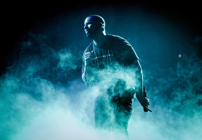 Drake tijdens een concert in de Ziggo Dome.