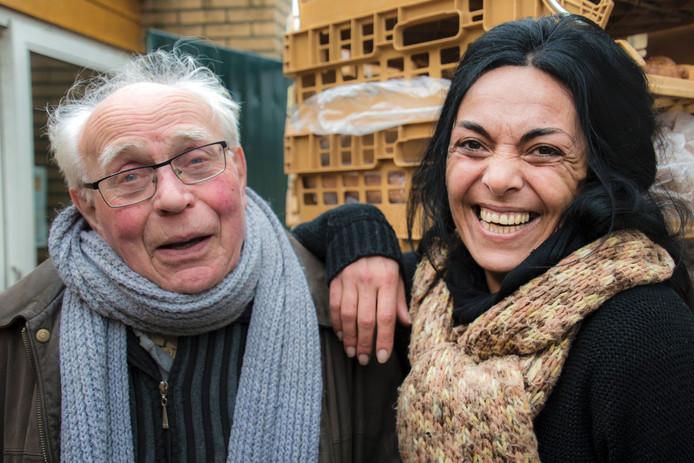 Gerrit Poels met zijn pleegdochter