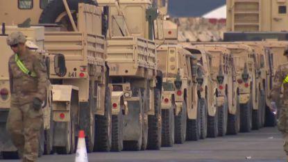 Honderden Amerikaanse tanks en voertuigen aangekomen in Antwerpse haven
