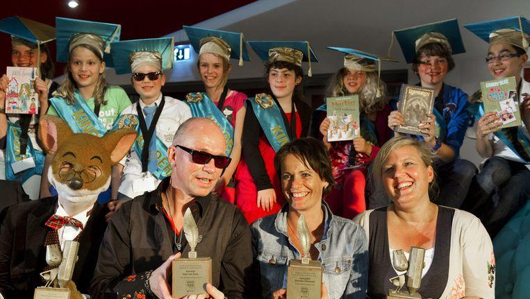 Winnaars van de Kinderjury Prijs 2012. Beeld ANP